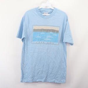 90s Hanes Mens Medium Cape Cod Sail Boat T Shirt